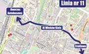 Autobusy linii nr 11 zostaną przekierowane do Dworca Autobusowego