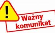 Komunikat Urzędu Miasta i Gminy w Daleszycach